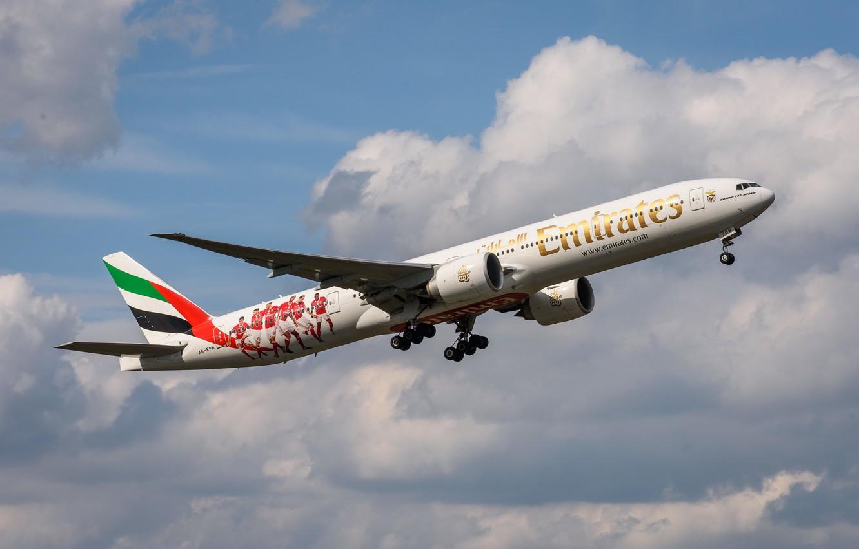 Фото обои Emirates, Boing, 777-300 ER