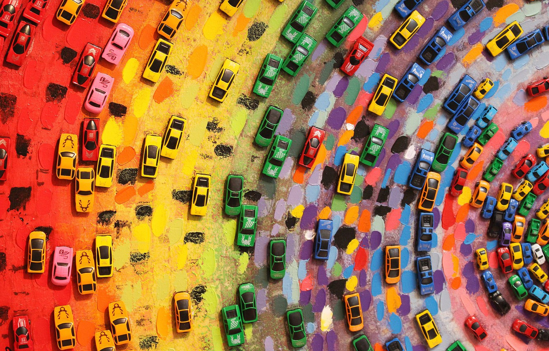 Фото обои Color, Mood, Toy, Colorful cars