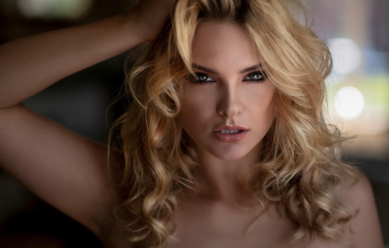 Фото обои girl, look, blonde, bare shoulders, Carla Sonre, Chris Bos