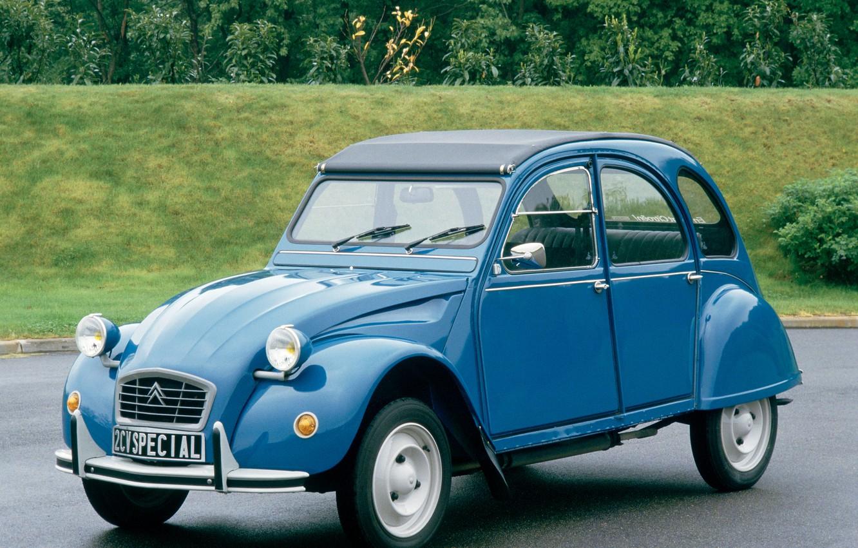 Фото обои синий, Citroën, Special, 2CV6, 1975–90
