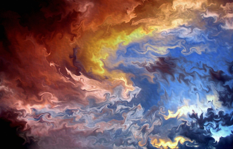 Фото обои абстракция, abstract, hot, холодно, гамма, cold, горячо, gamma, смесь цветов, mix of colors, красочное отражение, …