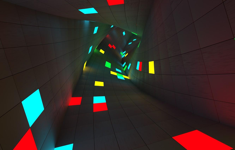 Фото обои абстракция, поворот, тоннель, ренденинг