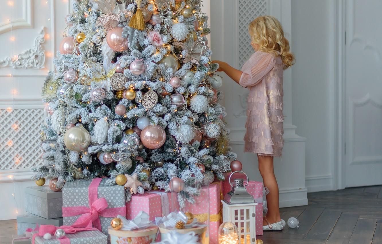 Фото обои елка, Рождество, подарки, Новый год, new year, Christmas, design, room, interior, decoration, gift box, fir …