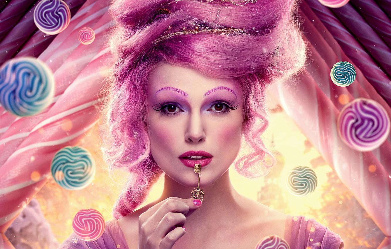 Фото обои девушка, макияж, ключ, фэнтези, прическа, Кира Найтли, Keira Knightley, красотка, постер, The Nutcracker and the ...