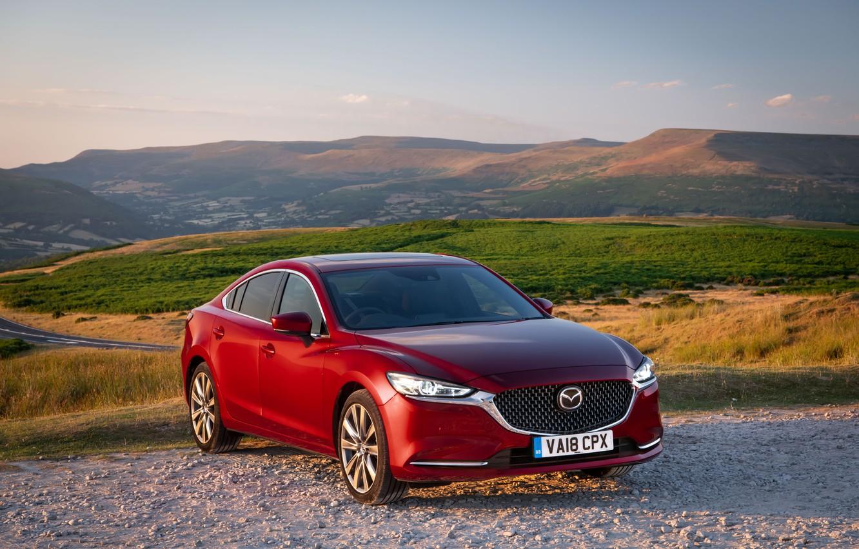 Фото обои Mazda, Mazda 6, красная, 2018