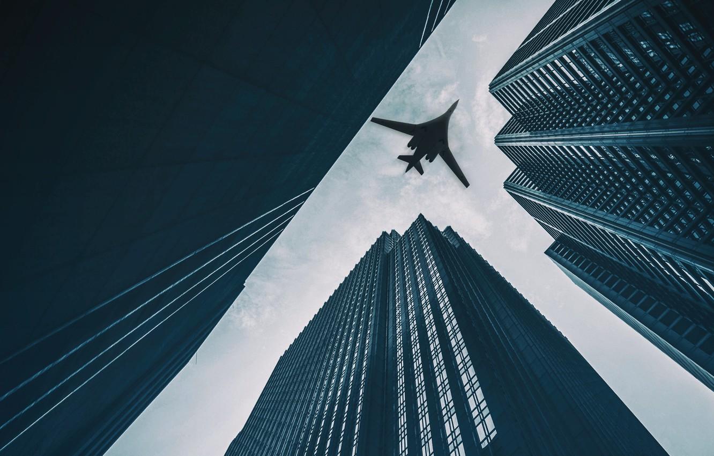 Обои Самолёт. Города foto 18