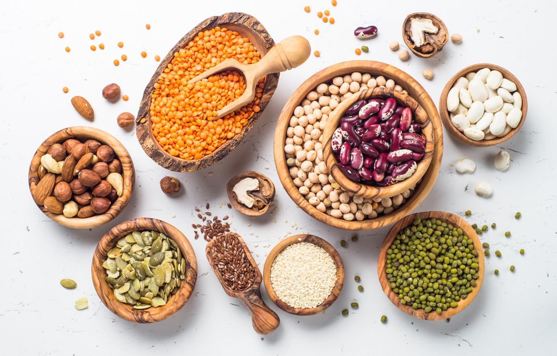 Фото обои variety, seeds, spoons, pots