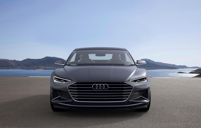 Фото обои Concept, Audi, купе, перед, Coupe, 2014, Prologue