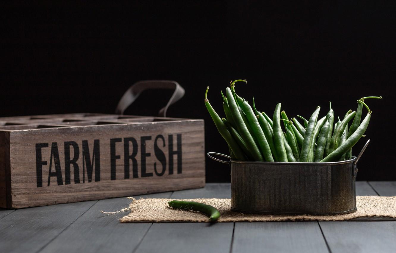 Фото обои фон, Green Beans, Farm Fresh