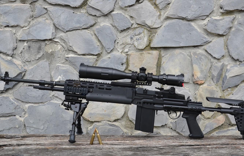 Фото обои оружие, gun, винтовка, weapon, rifle, M14, EBR, marksman, MK14, ЕБР