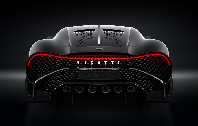 Фото обои машина, Bugatti, фонарь, стильный, гиперкар, La Voiture Noire