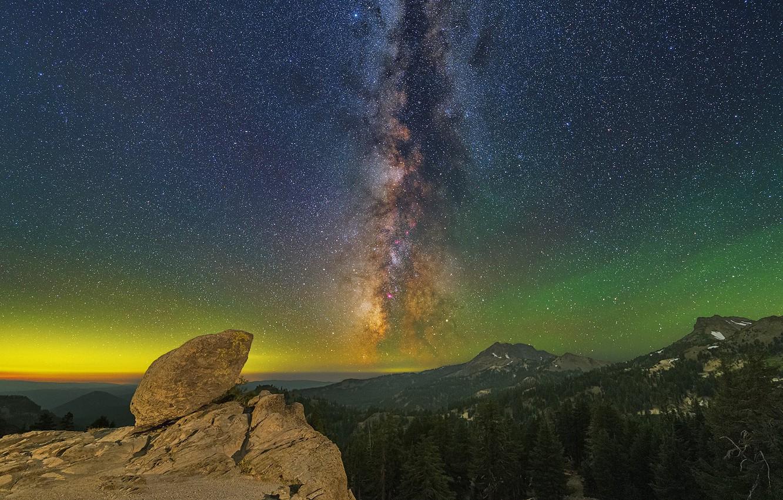 Фото обои пейзаж, ночь, природа, красота, Milky Way