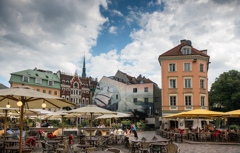 Фото обои Здания, Рига, Латвия, Riga, Buildings, Latvia