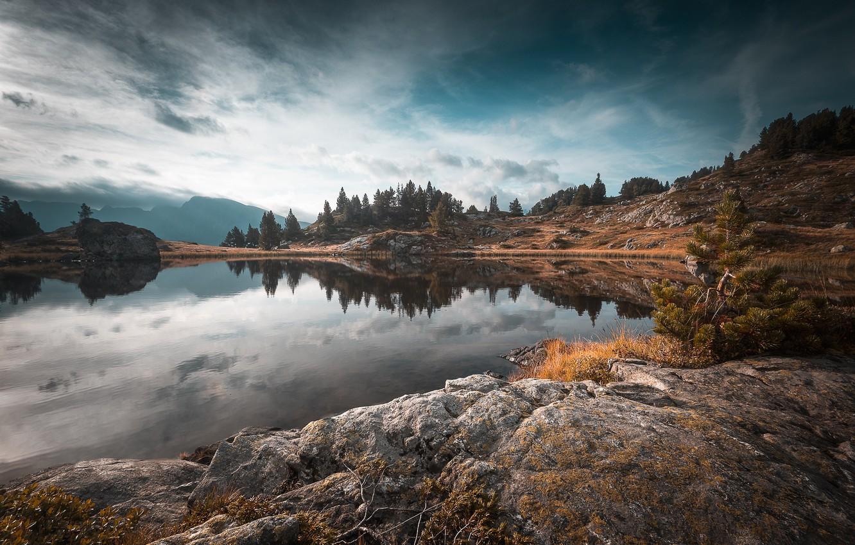 Фото обои озеро, Франция, Изер