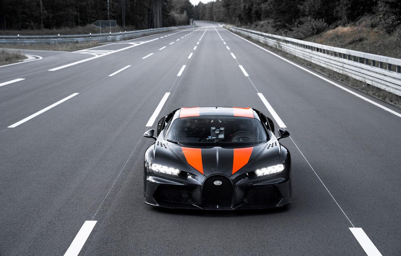 Фото обои Bugatti, гиперкар, Chiron, Super Sport 300+