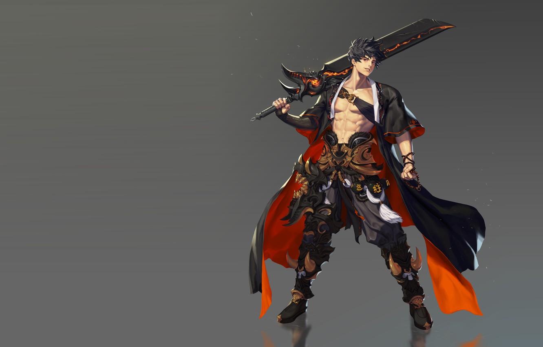 Фото обои оружие, игра, меч, воин, фэнтези, арт, дизайн костюма, B B