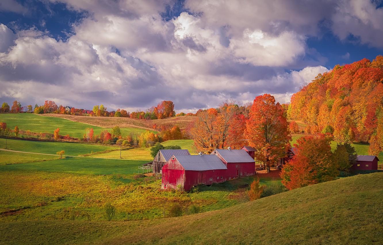Обои Облака, осень. Пейзажи foto 9