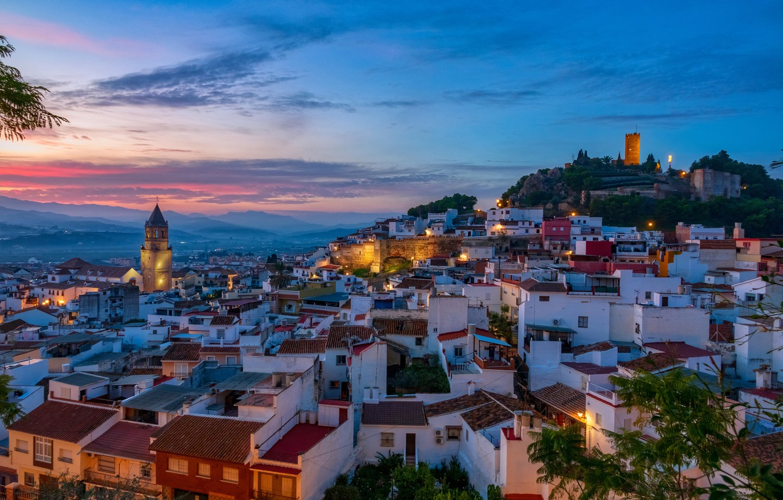 Обои ночь, Malaga city, spain. Города foto 12