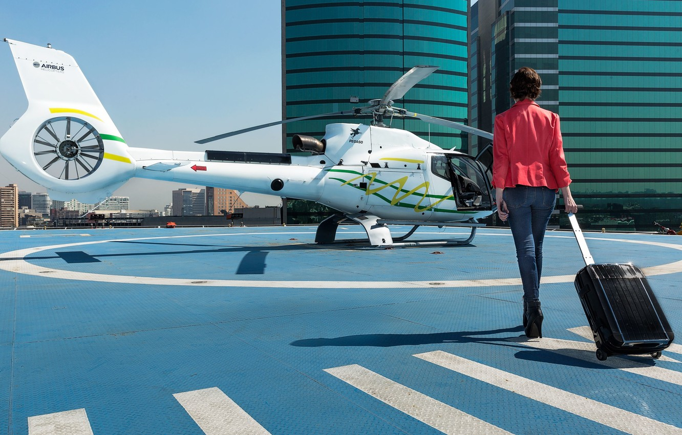 Фото обои Airbus Helicopters, Mexico City, Мехико, вертолетное такси, helicopter air-taxi
