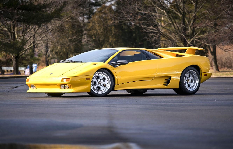 Фото обои Yellow, Supercar, Lamborghini Diablo