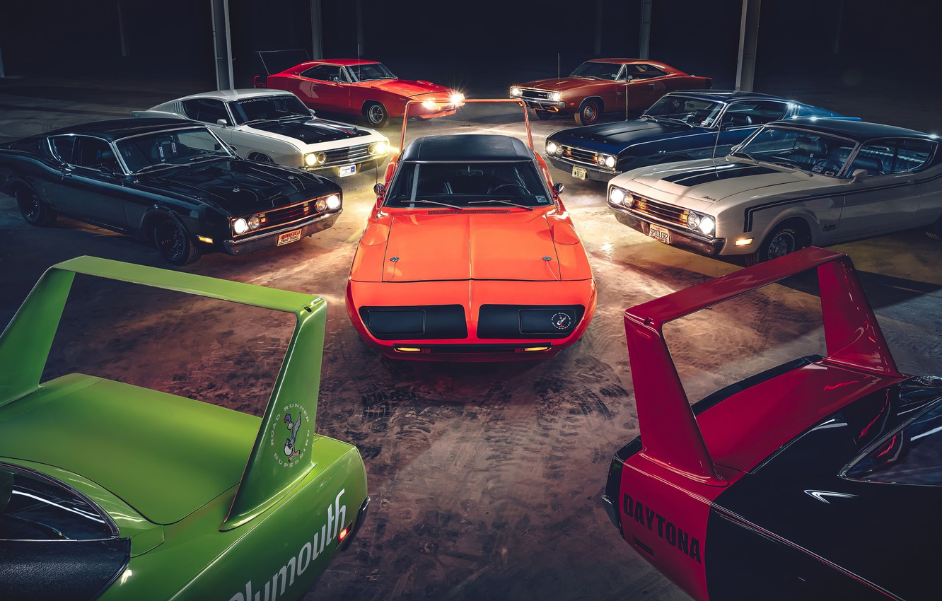 Фото обои daytona, dodge charger, muscle cars, plymouth superbird