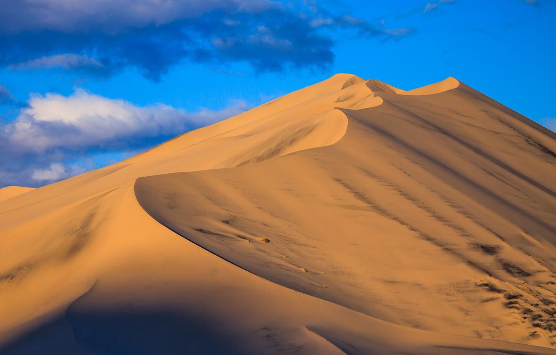 Фото обои песок, небо, природа, барханы, пустыня