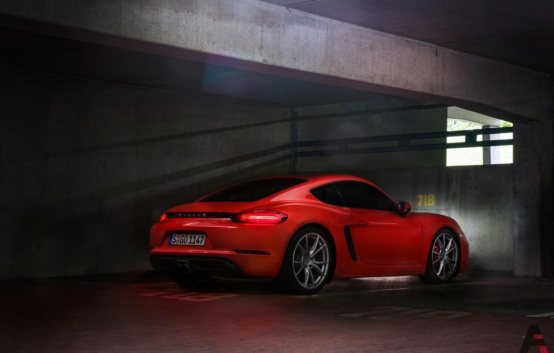 Фото обои Красный, Авто, Porsche, Машина, Cayman S, Transport & Vehicles, by Kanishk Rathore, Kanishk Rathore, S-GO-1147, ...