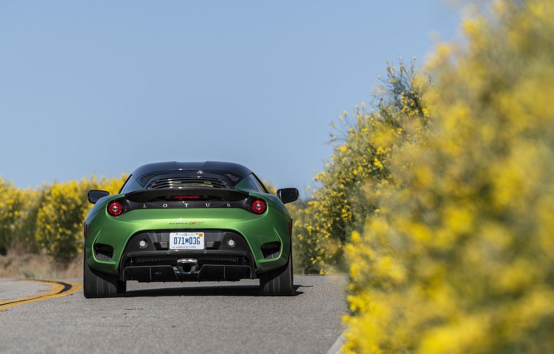 Фото обои Lotus, вид сзади, Evora, 2020, USA version, Evora GT