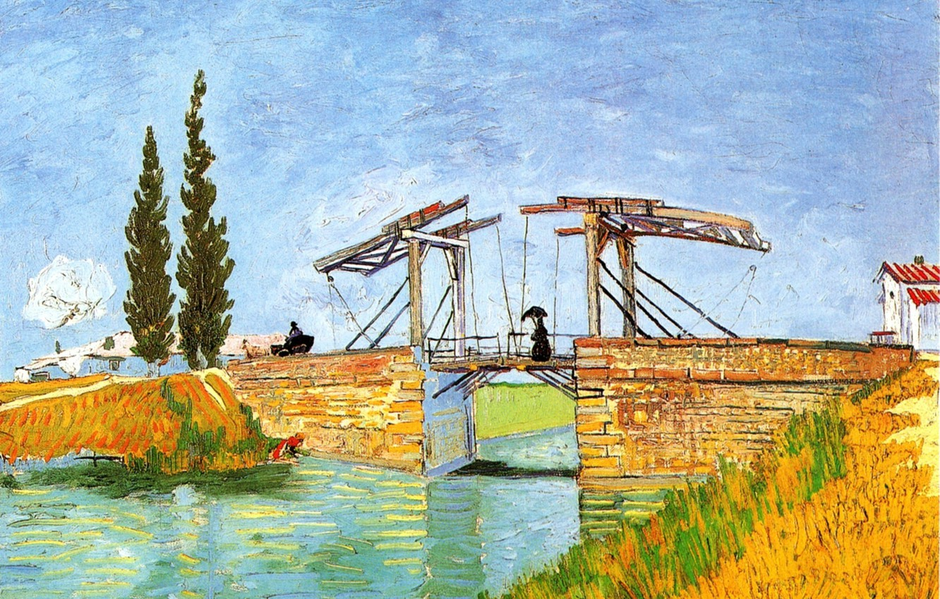 Фото обои Vincent van Gogh, Bridge at Arles 2, The Langlois