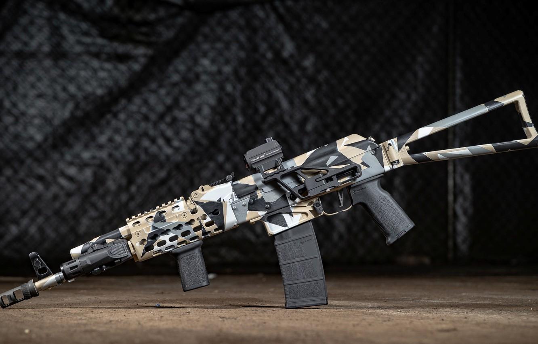 Фото обои оружие, тюнинг, автомат, weapon, кастом, custom, Калашников, Русский, штурмовая винтовка, assault Rifle, AK, АК