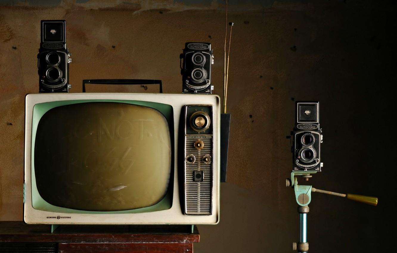 Фото обои фон, телевизор, камеры