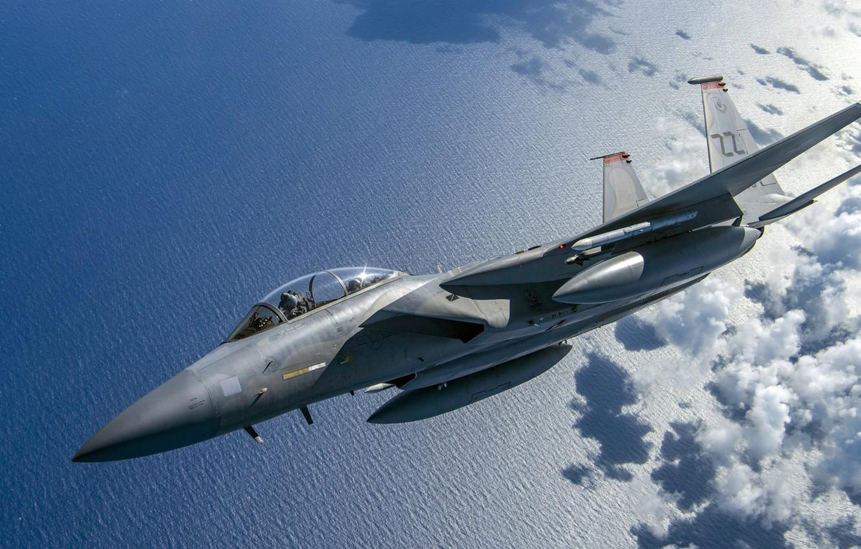 Фото обои Eagle, ВВС США, четвёртого поколения, McDonnell Douglas, Двухместный учебно-тренировочный вариант, F-15D, американский всепогодный истребитель
