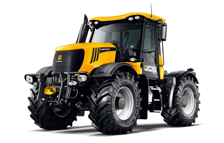 Фото обои трактор, белый фон, JCB, Fastrac, 3230