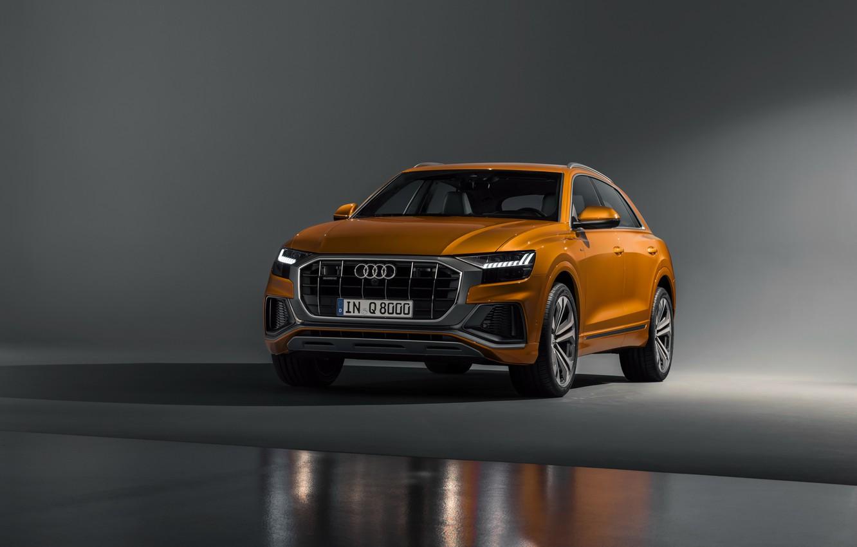 Фото обои машина, фон, Audi, рыжая, золотая