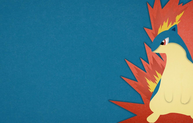 Фото обои fire, огненный, покемон, pokemon, Quilava, Квилава