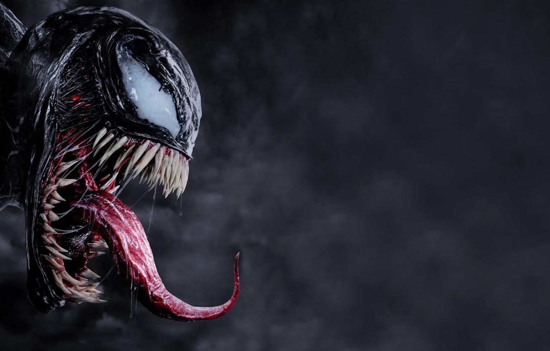 Фото обои язык, глаза, фильм, зубы, Веном, Venom