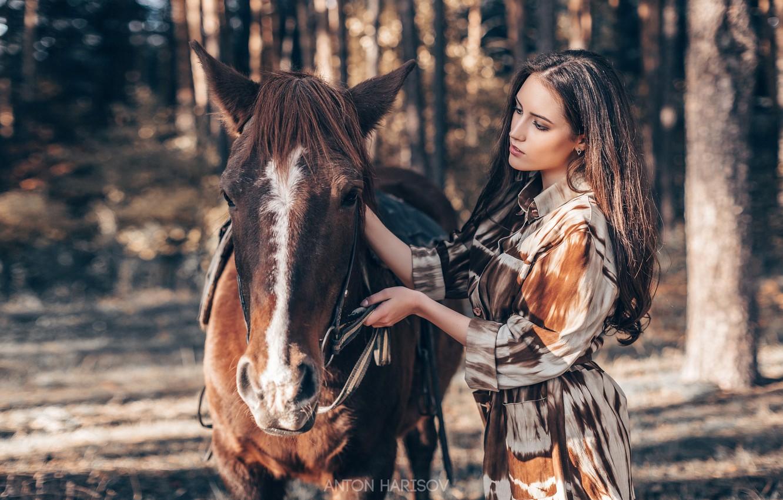 Фото обои девушка, конь, лошадь, Мария, Антон Харисов
