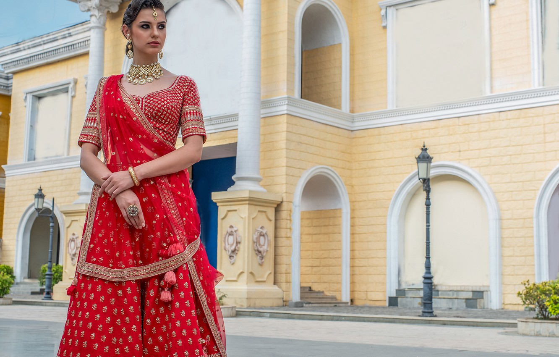 Фото обои girl, fashion, eyes, smile, beautiful, model, lips, face, hair, pose, indian, photoshoot, red dress, makeup, …