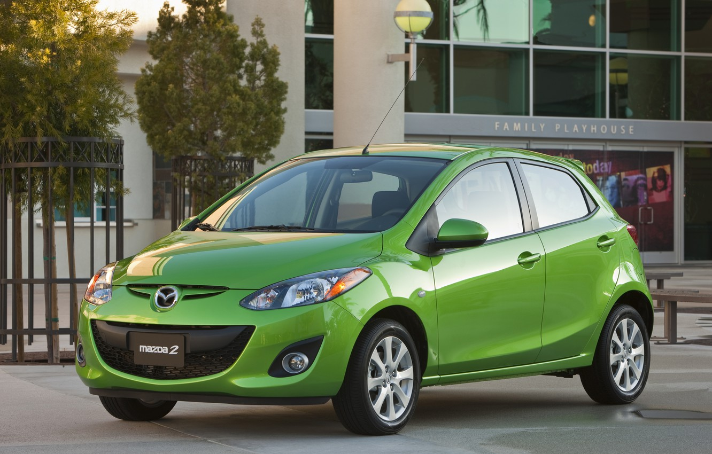 Фото обои зелёный, Mazda2, 2011–14