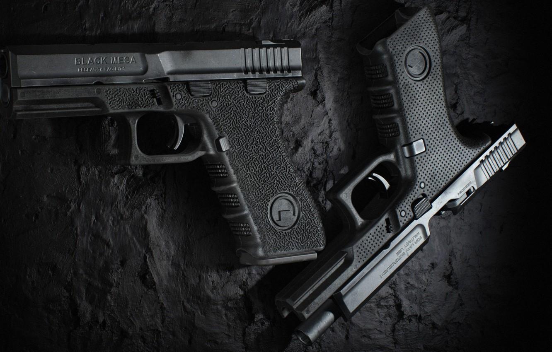 Фото обои пистолет, оружие, pistol, Half-Life, weapon, Глок, Glock, Black Mesa
