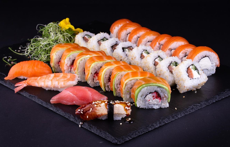 Обои рыба, рис, суши, роллы, сашими, сэт картинки на рабочий стол, раздел еда - скачать