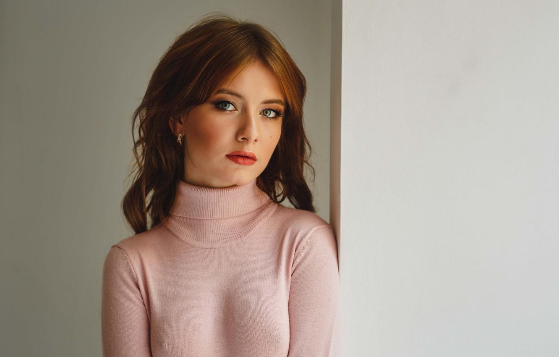 Фото обои грудь, девушка, волосы, рыжая, Алексей Гилёв