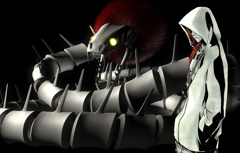 Фото обои змей, парень, Bleach, Ренджи