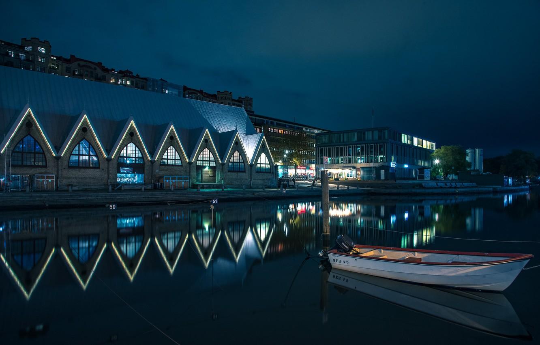 Обои Вечер, швеция, гетеборг. Города foto 18