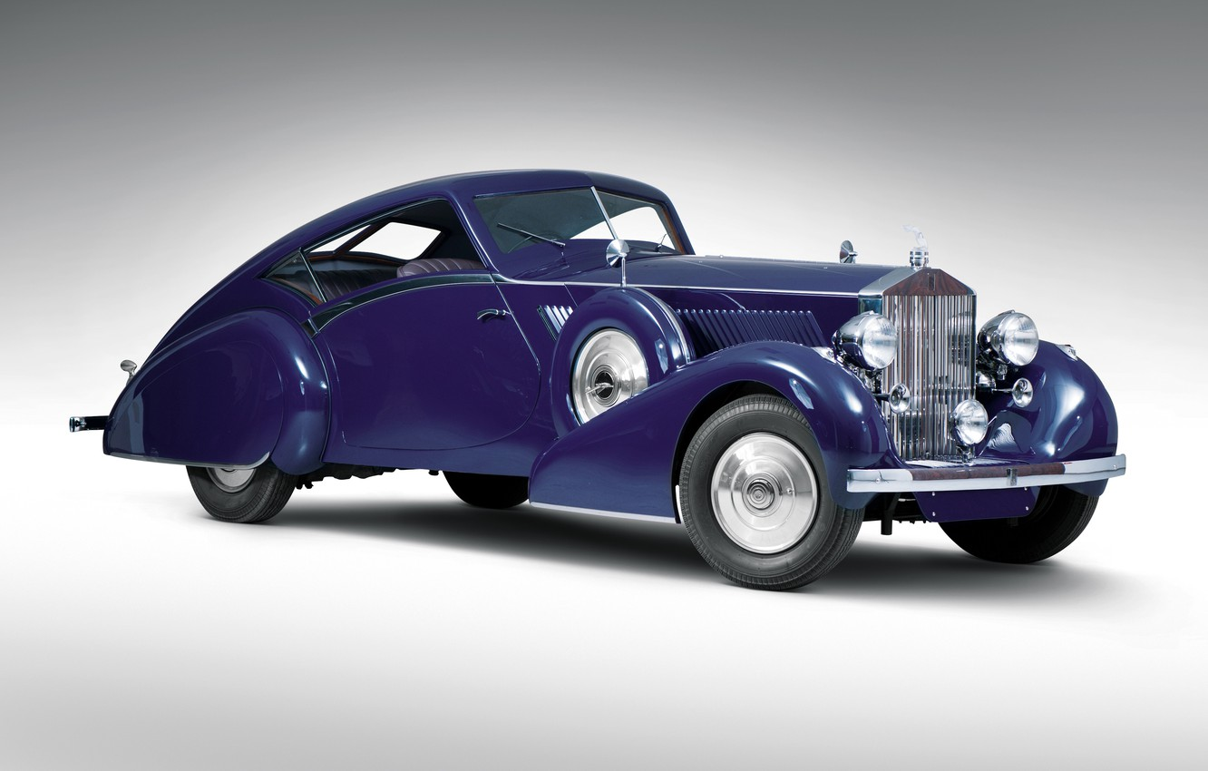 Фото обои ретро, Rolls-Royce, Coupe, 1937, Phantom III Aero