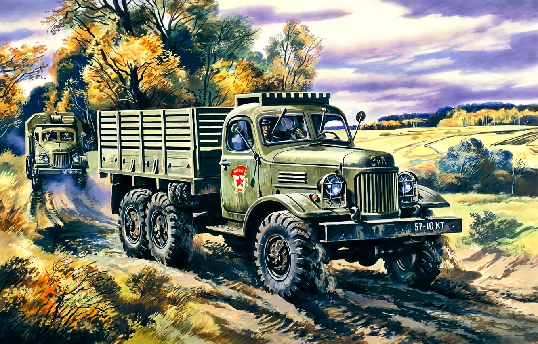 Обои truck, грузовой, повышенной, проходимости, автомобиль. Автомобили foto 12