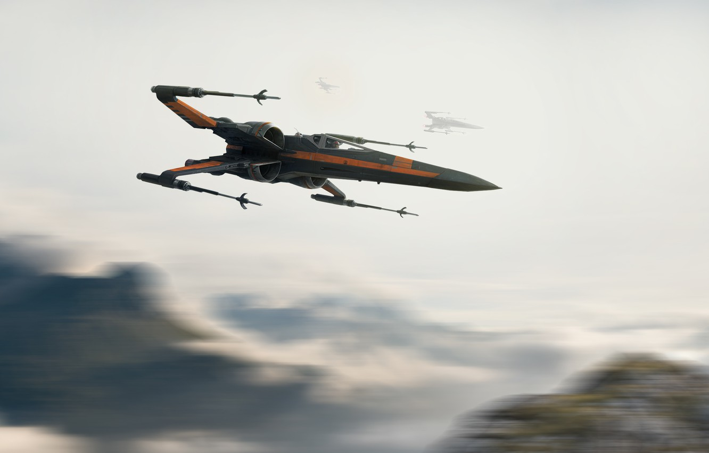 обои истребитель Star Wars истребители X Wing Science