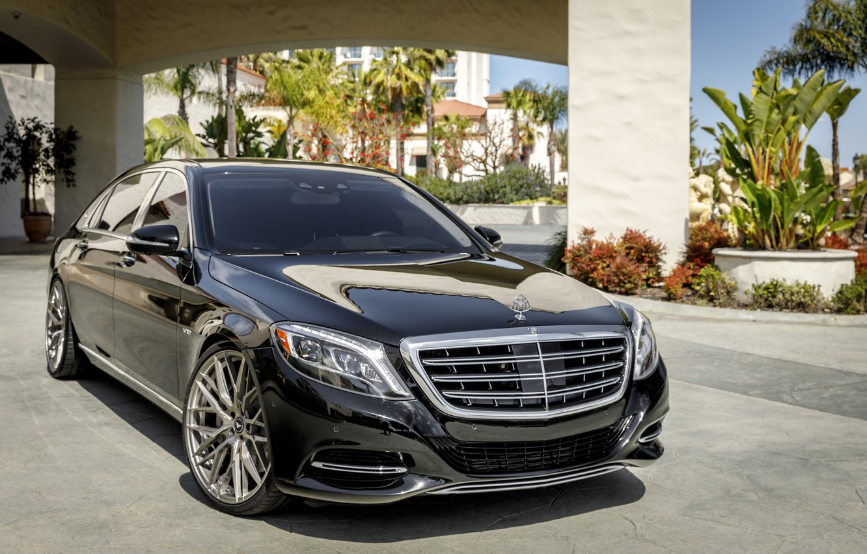 Фото обои Mercedes, Maybach, Black, W222, LED