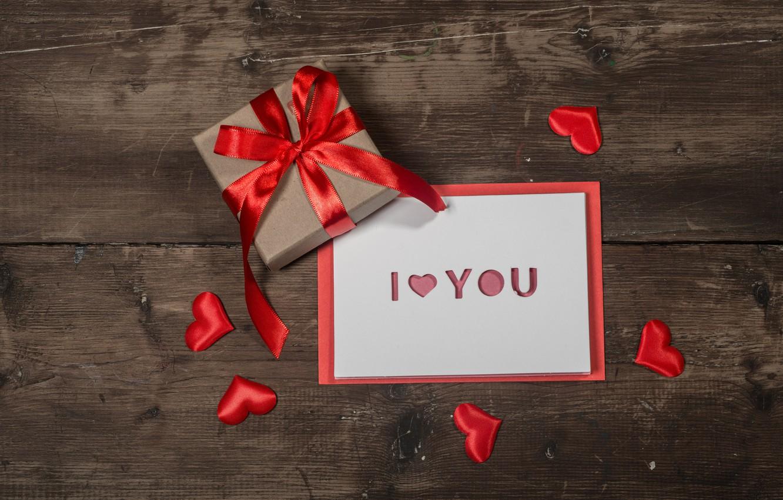 Фото обои любовь, подарок, сердце, сердечки, red, love, heart, wood, romantic, valentine's day, I love You