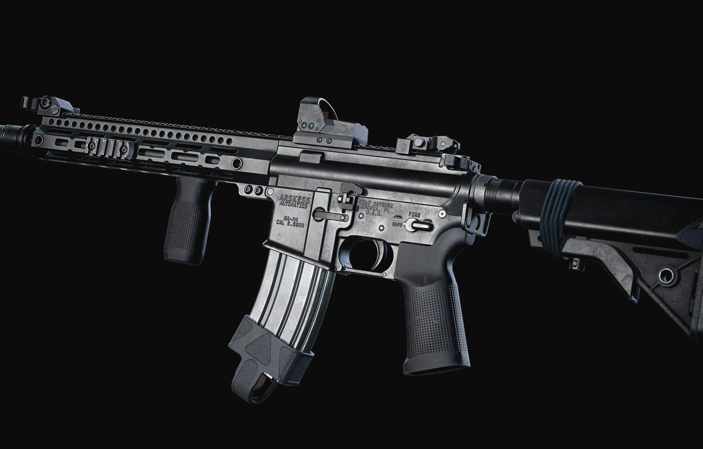 Фото обои рендеринг, оружие, gun, weapon, render, кастом, custom, AR-15, штурмовая винтовка, assaul rifle, АР-15